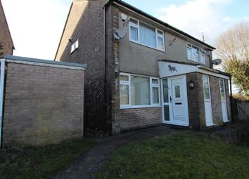Thumbnail 2 bedroom semi-detached house to rent in Brigham Court, Caerphilly