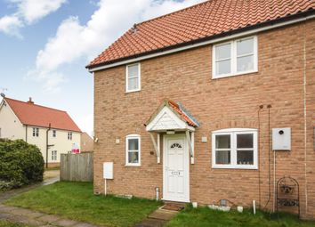 Thumbnail 3 bed semi-detached house for sale in Brewers Close, Lakenheath, Brandon