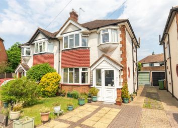 Thumbnail 3 bed semi-detached house for sale in Avondale Close, Burwood Park, Hersham, Walton-On-Thames