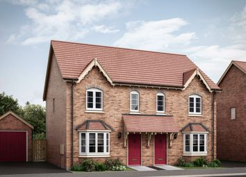 "Thumbnail 3 bed semi-detached house for sale in ""The Carnel"" at Burton Road, Ashby-De-La-Zouch"