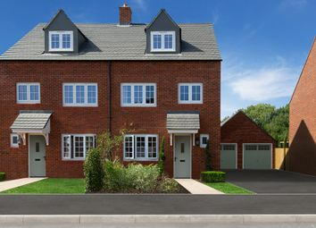 Thumbnail 4 bed end terrace house for sale in Sanderson Manor, Church Road, Hauxton, Cambridge