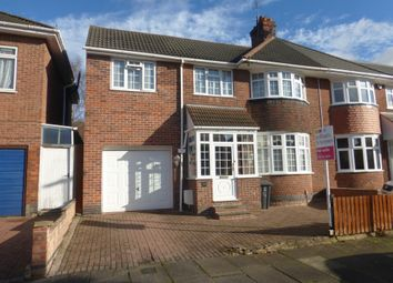 Thumbnail 5 bed semi-detached house for sale in Midway Road, Leicester