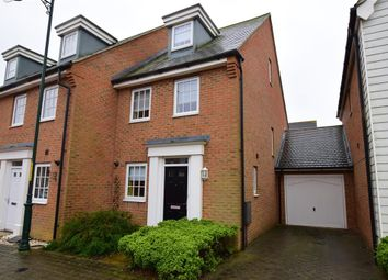 Thumbnail 3 bed end terrace house for sale in Hazen Road, Kings Hill, West Malling, Kent