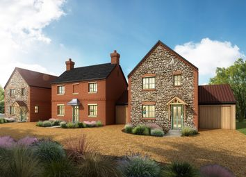 Thumbnail 4 bed link-detached house for sale in Foulsham Road, Bintree, Dereham