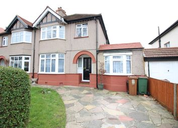 Thumbnail 4 bed semi-detached house for sale in Courtenay Road, Worceser Park, Surrey