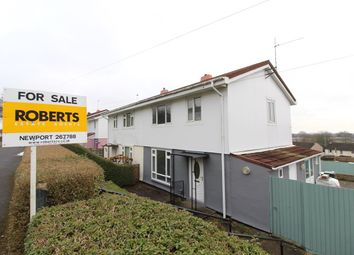 Thumbnail 3 bed semi-detached house for sale in Fort View, Bassaleg, Newport