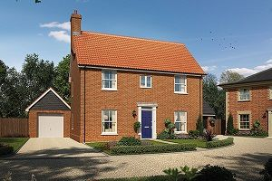 Thumbnail 3 bed detached house for sale in The Ramey, Cromer Road, Holt, Norfolk
