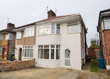 Thumbnail 3 bed semi-detached house to rent in The Heights, Northolt, Middlesex