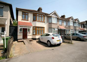 Thumbnail 3 bed semi-detached house to rent in Wadeville Avenue, Chadwell Heath, Romford