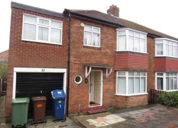 Thumbnail 4 bed semi-detached house to rent in Ridgeway, Fenham