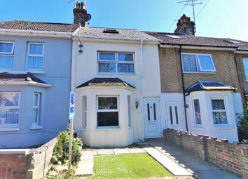 Thumbnail 3 bed terraced house for sale in Dyke Road, Folkestone