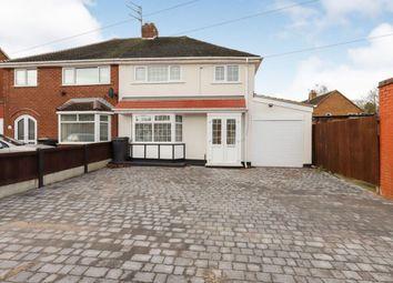 Thumbnail 3 bed semi-detached house for sale in Belton Avenue, Wednesfield, Wolverhampton