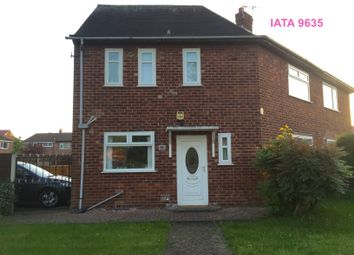 Thumbnail 3 bedroom semi-detached house to rent in Portway, Wythenshawe, Manchester