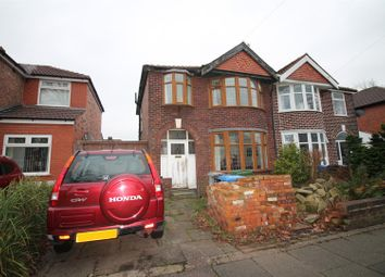 Thumbnail 3 bed semi-detached house for sale in Lichfield Road, Urmston, Manchester