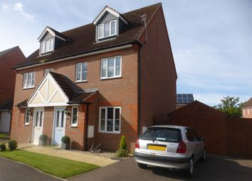 Thumbnail 3 bed semi-detached house for sale in The Brambles, Market Rasen