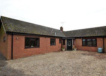 Thumbnail 4 bed detached bungalow for sale in Dereham Road, Westfield, Dereham, Norfolk.