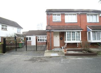 Thumbnail 3 bedroom semi-detached house for sale in Vanbrugh Close, Beckton, London