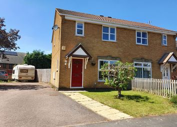 Thumbnail 3 bed semi-detached house for sale in Viking Close, Kettering