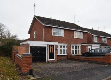 Thumbnail 2 bed semi-detached house for sale in Flaxley Close, Redditch