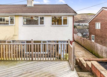 Thumbnail 3 bed semi-detached house for sale in Heather Way, Porth