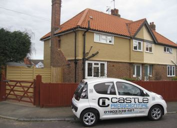 Thumbnail 3 bed semi-detached house to rent in Lyndhurst Road, Broadwater, Worthing