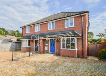 Thumbnail 3 bed semi-detached house for sale in Peterborough Road, Crowland, Peterborough