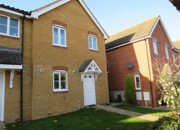 Thumbnail 3 bed end terrace house for sale in Thurlow Close, Saxmundham