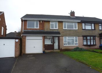 Thumbnail 5 bedroom semi-detached house for sale in Greenfields Road, Shelfield, Walsall