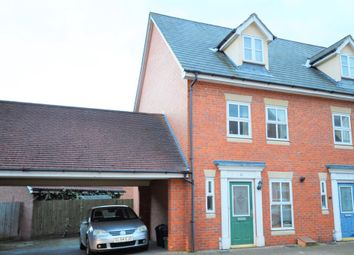 Thumbnail 3 bedroom semi-detached house to rent in Hatcher Crescent, Colchester