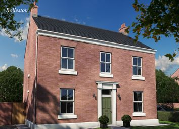 Thumbnail 4 bedroom detached house for sale in The Rolleston, Burton Road Tutbury, Staffordshire