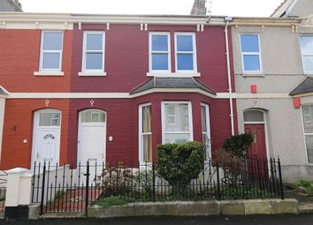 Thumbnail 3 bedroom terraced house to rent in Grenville Road, Plymouth, Devon