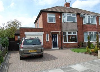 Thumbnail 3 bed semi-detached house for sale in Stokesley Grove, High Heaton, Newcastle Upon Tyne