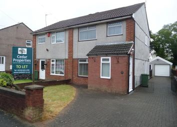 Thumbnail 3 bed semi-detached house to rent in 11 Cynan Close, Pontypridd