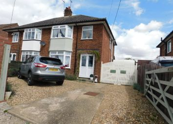 Thumbnail 3 bed semi-detached house for sale in Onehouse Road, Stowmarket, Suffolk
