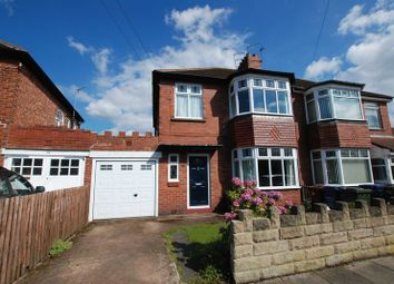 Thumbnail 3 bed semi-detached house for sale in Hunters Road, Gosforth, Newcastle Upon Tyne