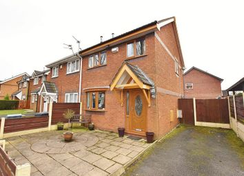 Thumbnail 3 bed semi-detached house for sale in Finstock Close, Eccles, Manchester