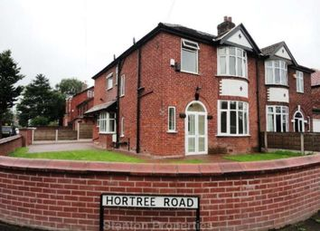 Thumbnail 4 bed semi-detached house to rent in Hortree Road, Stretford