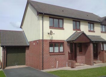 Thumbnail 3 bed semi-detached house to rent in Middlecombe Drive, Barnstaple