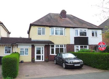 Thumbnail 3 bed semi-detached house for sale in Cremorne Road, Four Oaks, Sutton Coldfield
