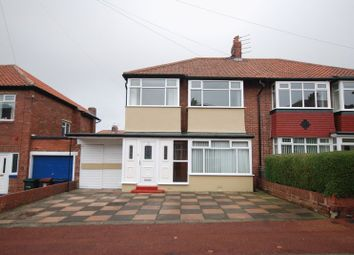 Thumbnail 3 bed semi-detached house for sale in Westwood Gardens, Kenton, Newcastle Upon Tyne