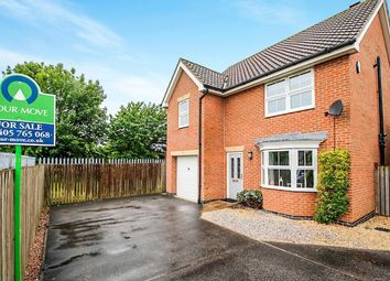 Thumbnail 4 bedroom detached house for sale in College Close, Goole