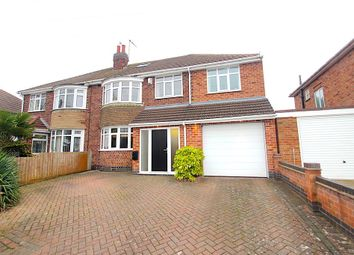 Thumbnail 4 bed semi-detached house for sale in Kingsway North, Braunstone, Leicester