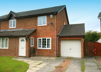 Thumbnail 2 bed semi-detached house to rent in Bridgemere Drive, Framwellgate Moor, Durham
