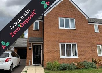 Thumbnail 3 bedroom property to rent in Buttercream Drive, Woodston, Peterborough