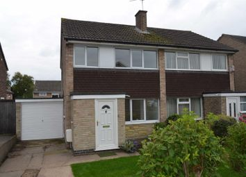 Thumbnail 3 bed semi-detached house to rent in Chertsey Road, Mickleover, Derby