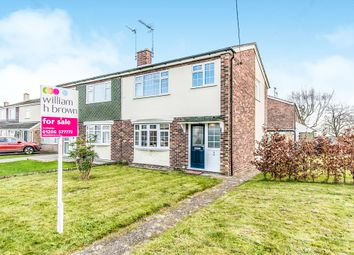 Thumbnail 3 bed semi-detached house for sale in Hines Close, Aldham, Colchester
