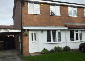 Thumbnail 2 bed semi-detached house for sale in Crestwood Close, Burton On Trent, Staffs