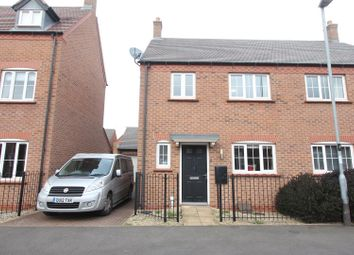 Thumbnail 3 bed semi-detached house for sale in Greyhound Croft, Hinckley