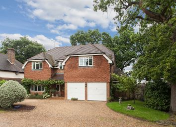 Thumbnail 5 bed detached house for sale in Wey Manor Road, New Haw, Addlestone