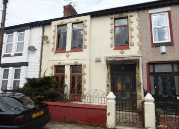 Thumbnail 4 bed terraced house for sale in Melbourne Street, Wallasey